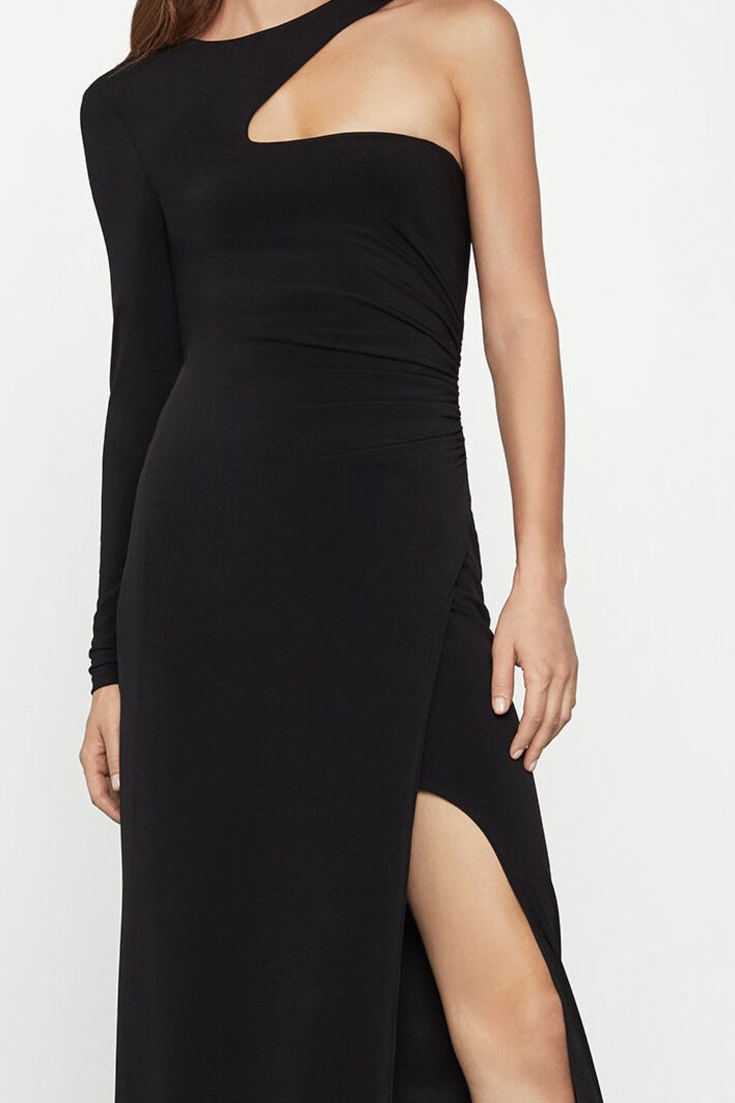 BCBG MAXAZRIA Single Sleeve Gown - Front Cropped Image