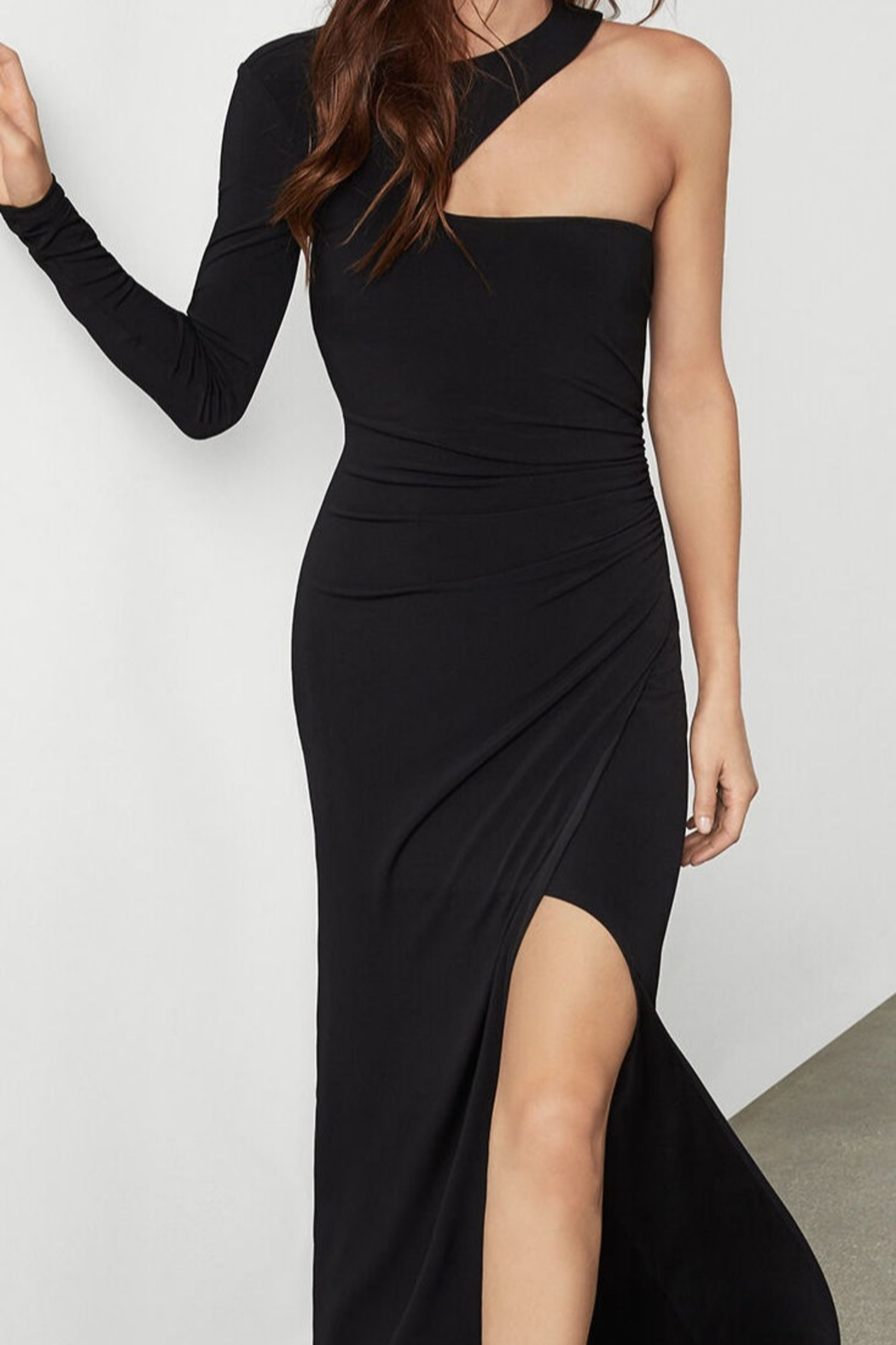 BCBG MAXAZRIA Single Sleeve Gown - Back Cropped Image
