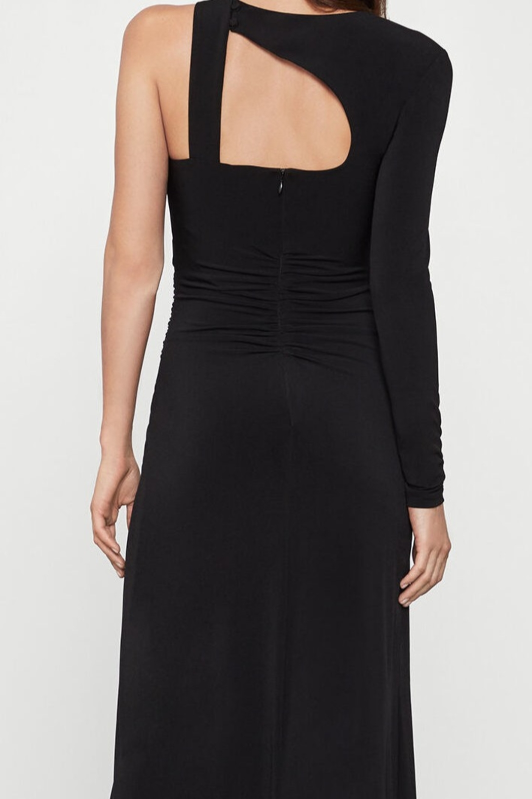 BCBG MAXAZRIA Single Sleeve Gown - Front Full Image