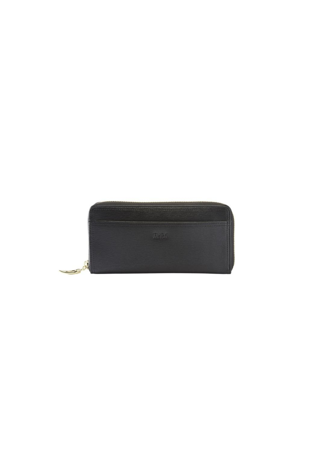 tusk Single Zip Gusseted Clutch Wallet - Front Full Image