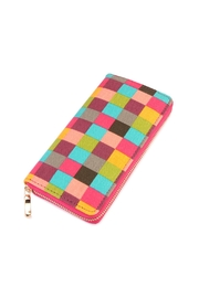 Riah Fashion Single-Zipper Wallet Checkered - Product Mini Image