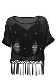Single Los Angeles Embroidered Sheer Crop-Top - Product Mini Image
