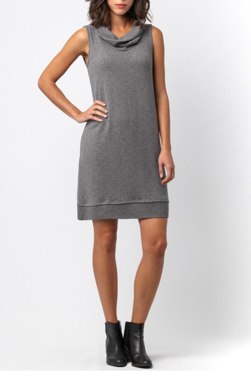 Sinuous Sleeveless Cowl Neck Dress - Front Cropped Image