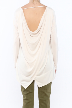 Sinuous White Oversized Top - Alternate List Image
