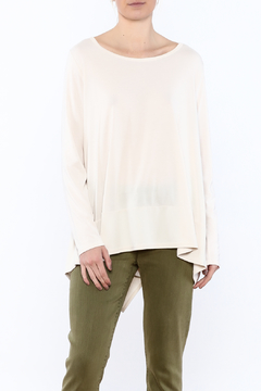 Sinuous White Oversized Top - Product List Image
