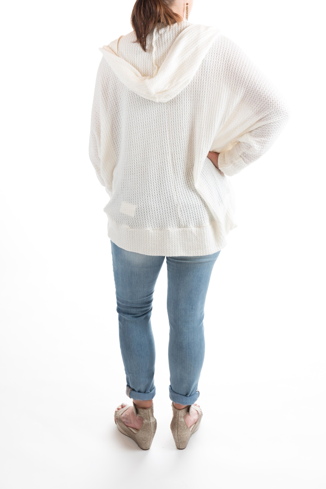 Sinuous Hoodie Sweater - Front Full Image