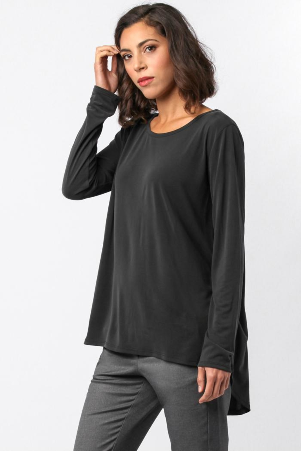 Sinuous Open Back Top - Side Cropped Image
