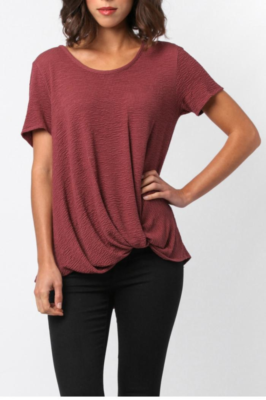 Sinuous Side Knot Top - Side Cropped Image