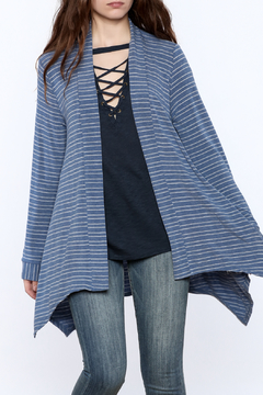 Shoptiques Product: Blue Flowy Cardigan