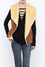 Sioni Two Tone Faux Shearling Vest - Product Mini Image