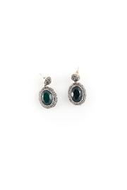 Sioro Jewelry Green Swarovski Earrings - Product Mini Image