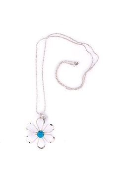 Sioro Jewelry Silver Flower Necklace - Alternate List Image