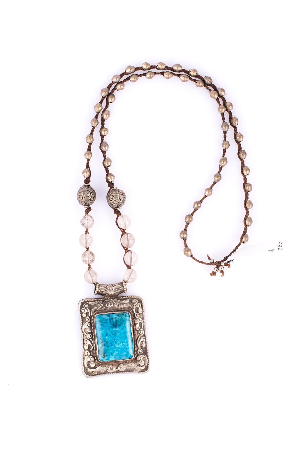 Sioro Jewelry Stone Pendant Necklace - Main Image