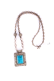 Sioro Jewelry Stone Pendant Necklace - Front cropped
