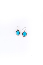Sioro Jewelry Turquoise Filigree Earrings - Front cropped