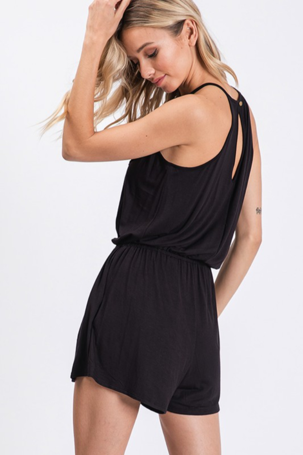 CY Fashion Sippin' On Sweet Tea Romper - Side Cropped Image