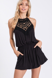 CY Fashion Sippin' On Sweet Tea Romper - Front cropped