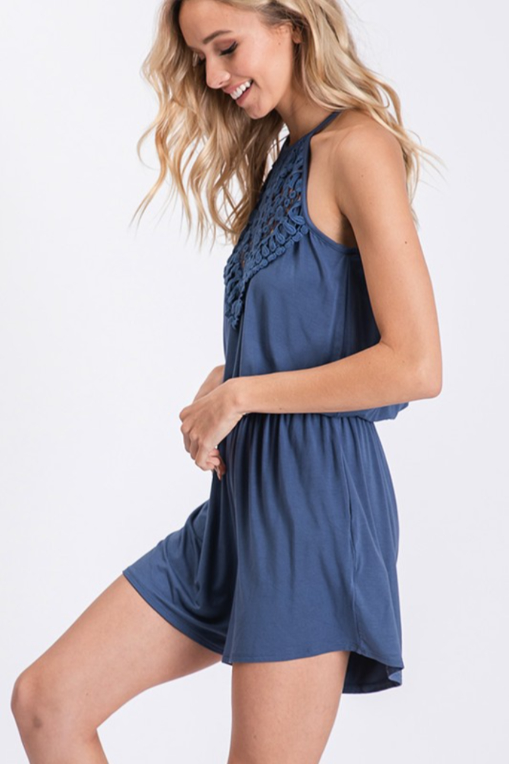 CY Fashion Sippin' On Sweet Tea Romper - Front Full Image