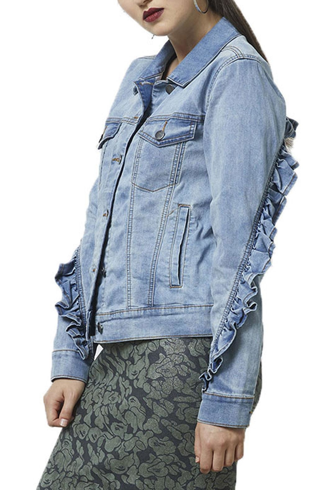 2966a82a12cb Siren Ruffle Denim Jacket from New Zealand by Camerons — Shoptiques