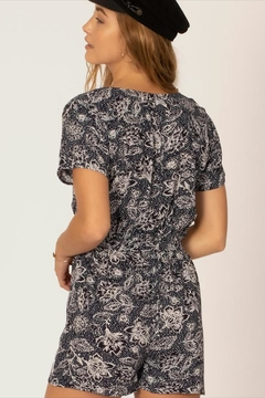 Sisstrevolution Floral Tie Romper - Alternate List Image