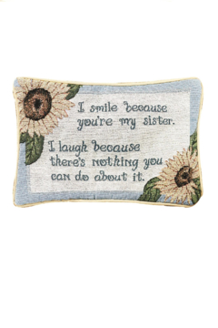 Manual Woodworkers and Weavers Sister Word Pillow - Alternate List Image