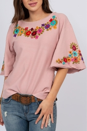 Sister Mary French-Terry Carmen Top - Front cropped