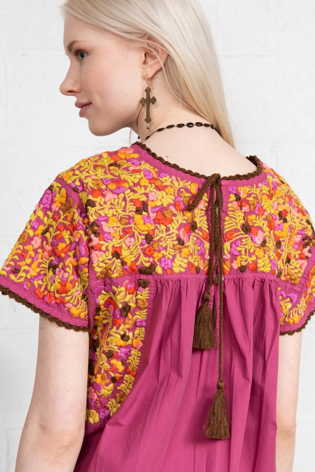 Sister Mary Mexican Embroidery Top - Front Full Image