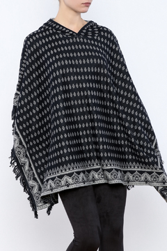 Shoptiques Product: Diamond Hooded Poncho