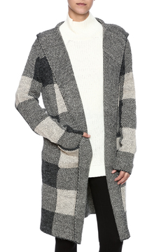 Shoptiques Product: Grey Hooded Cardigan