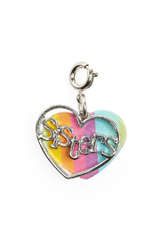 Charm It Sisters Heart Charm - Front cropped
