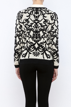 sisters Ivory Zip Cardigan - Alternate List Image