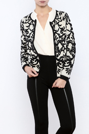 sisters Ivory Zip Cardigan - Product Mini Image