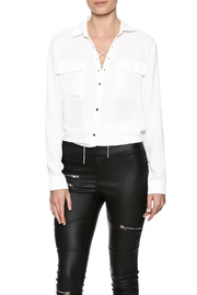 sisters Lace Up Blouse - Product Mini Image