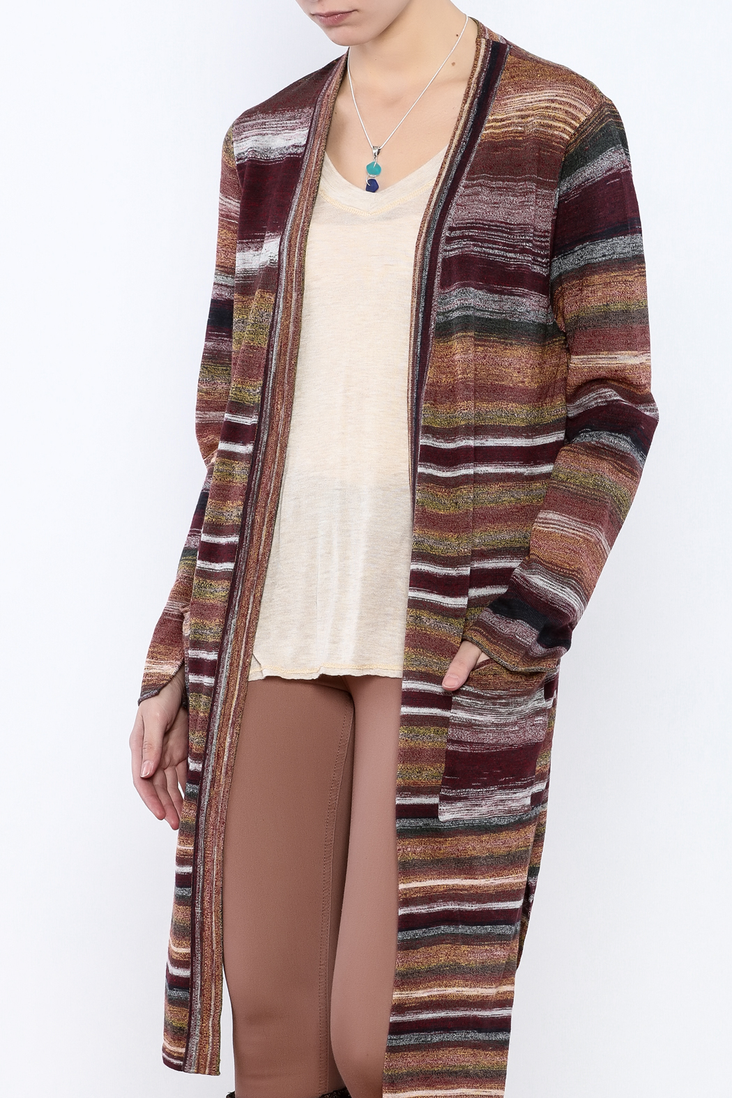sisters Long Stripe Cardigan from Cambria by New Moon — Shoptiques