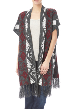 sisters Fringe Long Sweater Vest - Product List Image