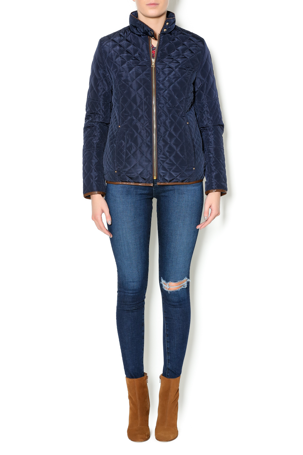 sisters Quilted Jacket - Front Full Image