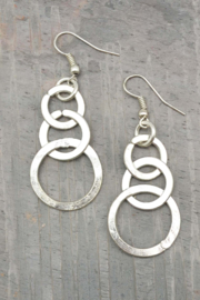 Anju Handcrafted Artisan Jewelry SIVER CIRCLES ER - Product Mini Image