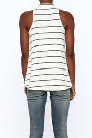 Six Fifty Stripe Print Sleeveless Top - Back cropped