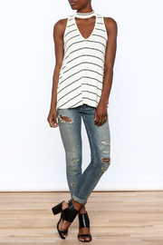Six Fifty Stripe Print Sleeveless Top - Front full body