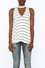 Six Fifty Stripe Print Sleeveless Top - Side cropped