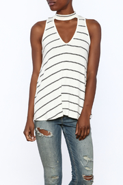 Six Fifty Stripe Print Sleeveless Top - Product Mini Image