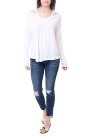 Six Fifty Double Cut-Out Top - Front cropped