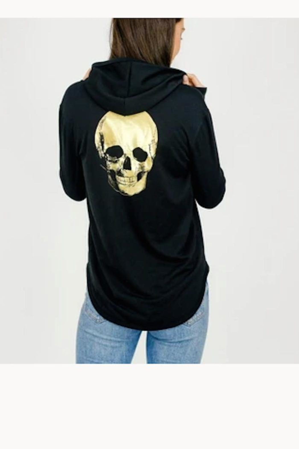Six Fifty Foil Skull Hoodie - Main Image