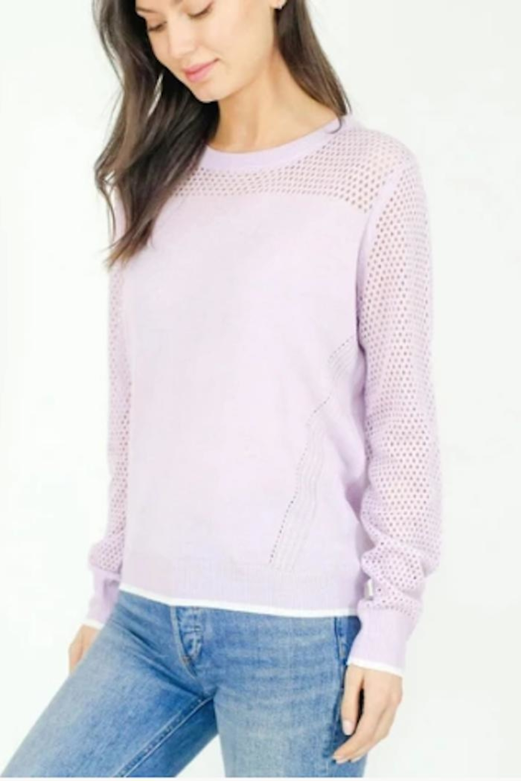 Six Fifty Mesh Detail Sweater - Main Image