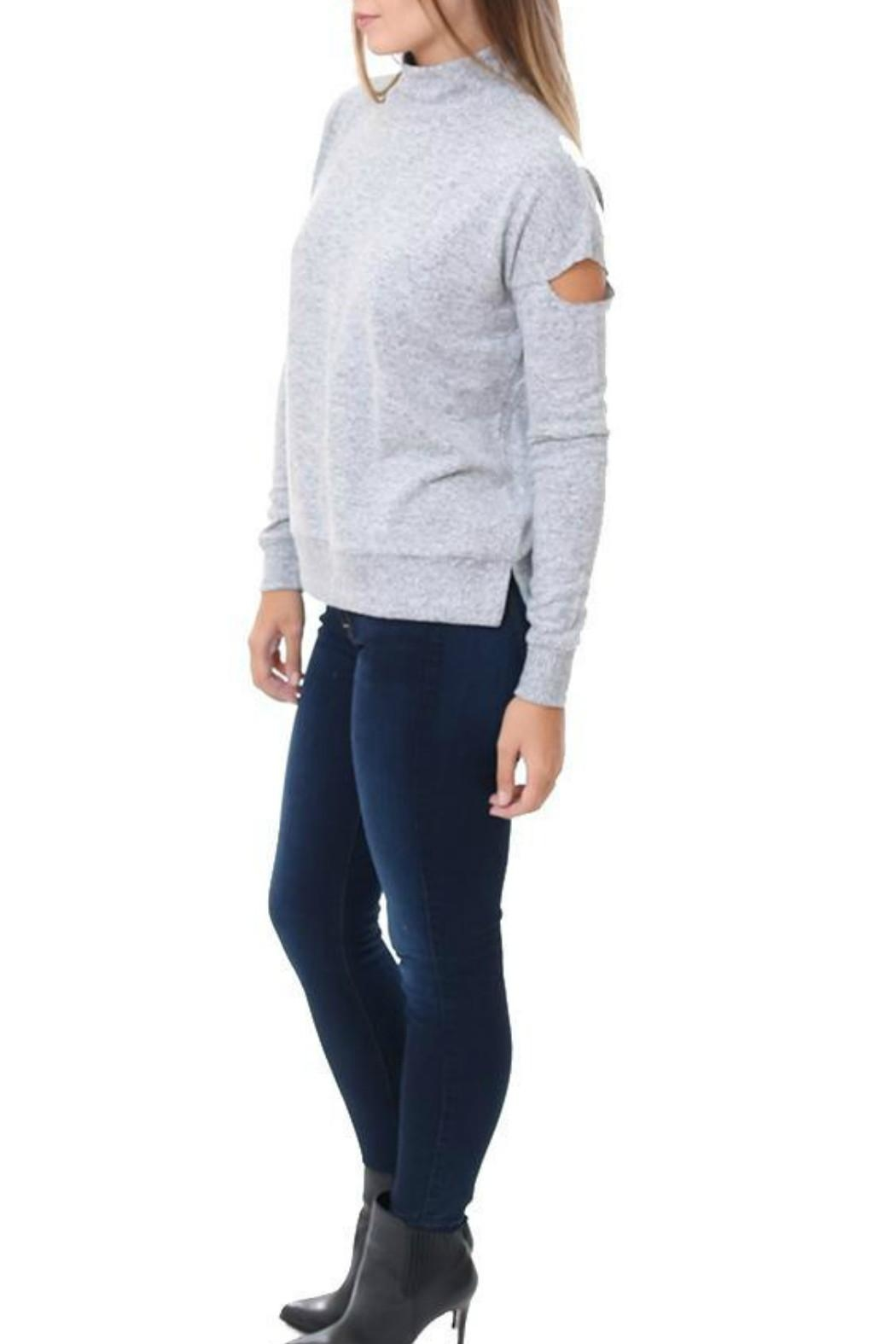 Six Fifty Mock Cutout Sweater - Front Full Image
