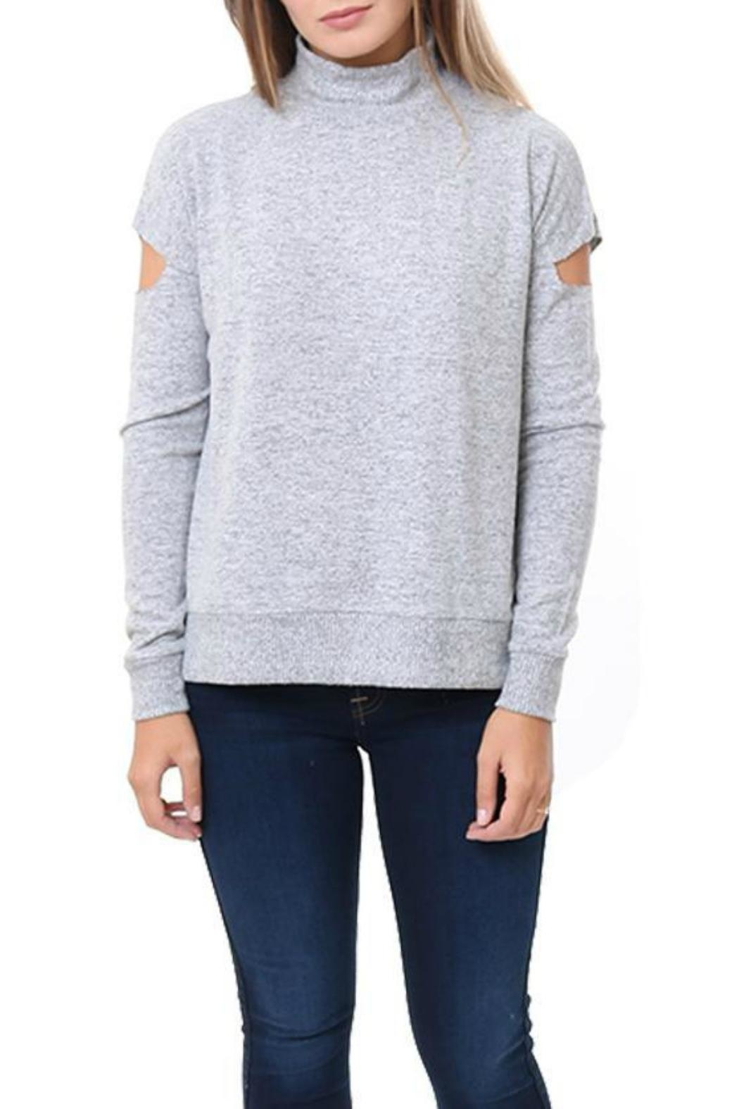 Six Fifty Mock Cutout Sweater - Front Cropped Image