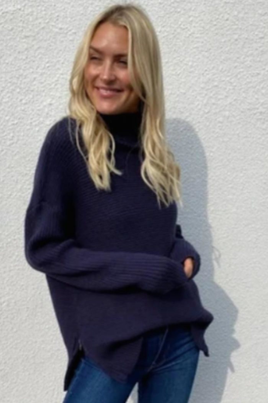 Six Fifty Side Zip Sweater - Front Cropped Image