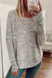 Six Fifty Streaky Thumbhole Pullover - Front cropped