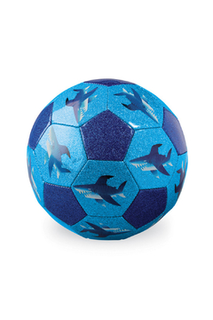 Crocodile Creek Size 3 Glitter Soccer Ball Shark City - Alternate List Image
