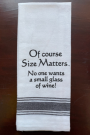 Wild Hare Designs  Size Matters Dish Towel - Product Mini Image